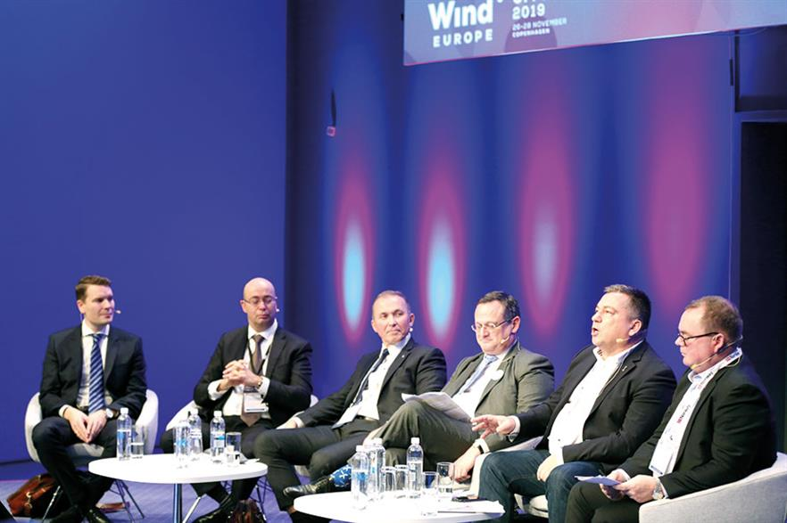 Floating panel: Rolf Kragelund, Albert Winnemuller, Leif Delp, Laurent Schneider-Maunoury, Patrick Lefebvre and Knut Erik Steen (left to right)