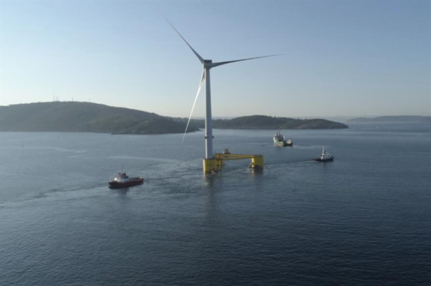 One project already planned for the Celtic Sea, Erebus, will feature turbines installed on Principle Power's WindFloat foundations (above)