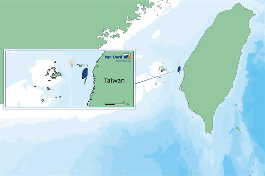 The Yunlin project will be situated eight kilometres from the prefecture of the same name (pic credit: Van Oord)