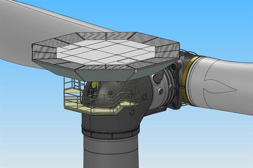 The Aerodyn-designed Ming Yang 6MW turbine