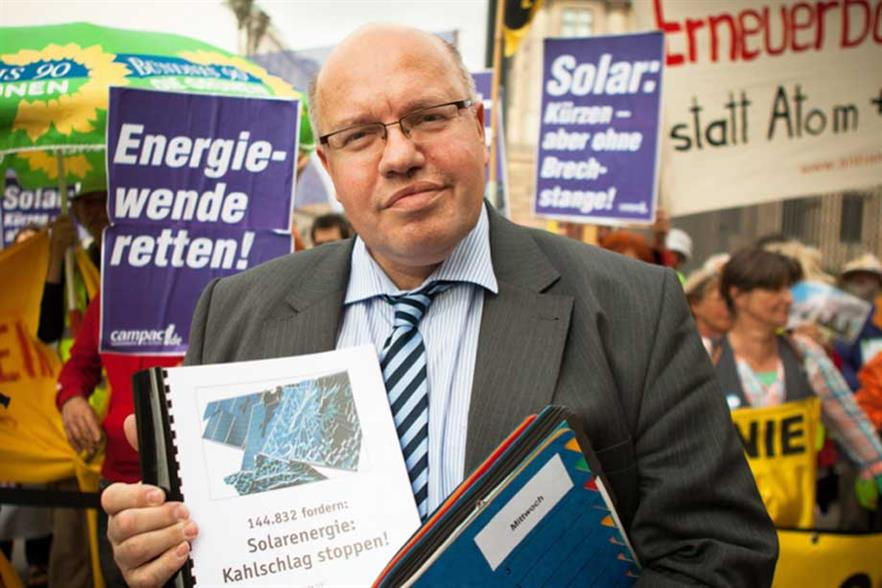 Peter Altmaier... heading to the Chancellor's Office (pic: Campact)