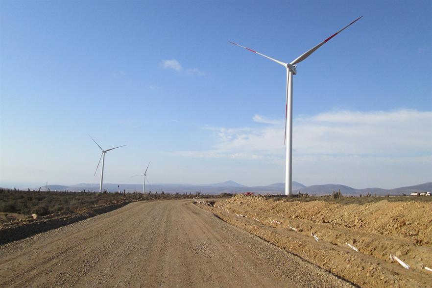 AES Andes own the 140MW Los Cururos wind farm