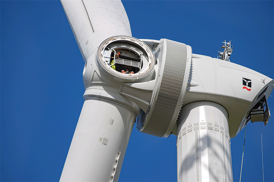 Enercon E-160 EP5… Passive-cooled PMG turbine is at the heart of the firm's new technology strategy (pic: Klaas-Eissens-AV-Producties)