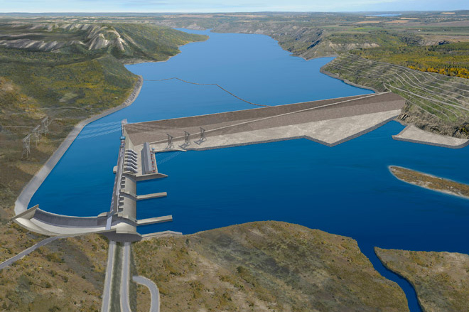 A simulation of the proposed Site C hydropower project in British Columbia