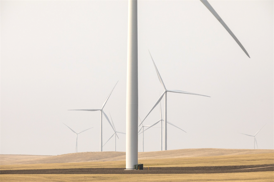 Ørsted's 103MW Willow Creek wind farm in South Dakota was one of ten new US wind farms commissioned in Q3 2020