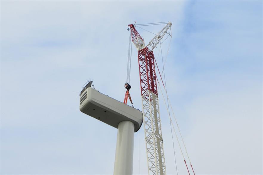 A Delta series turbine being installed