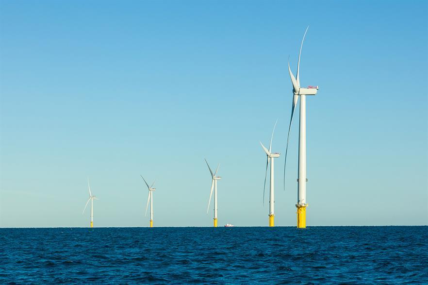 Five MHI Vestas V164 8.3MW turbines, located 5.3km from shore, at EDF's Blyth demonstration facility