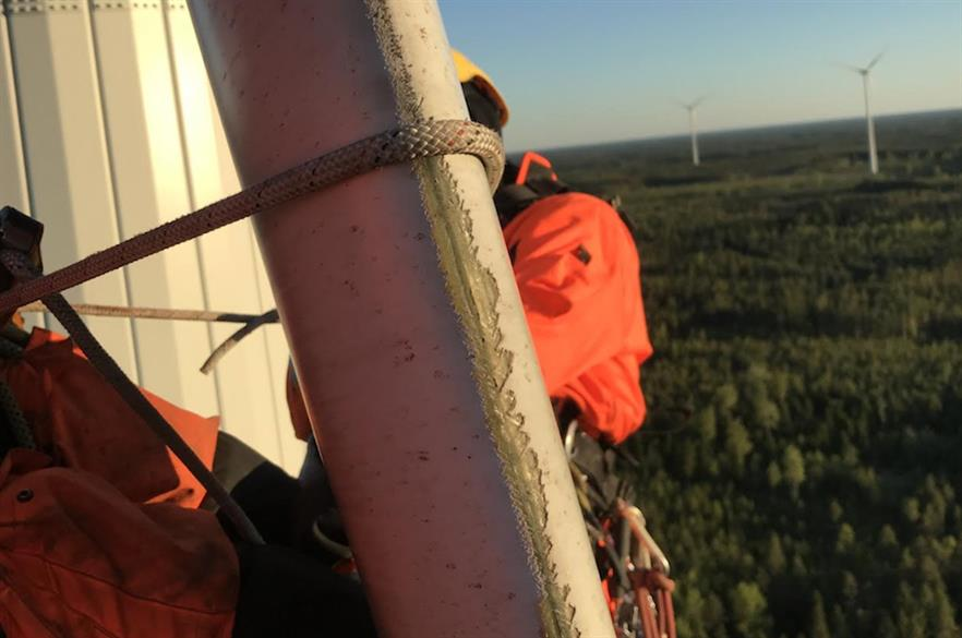 Repairs and replacement of turbines affected by edge erosion can often be costly (pic: 3DWS)