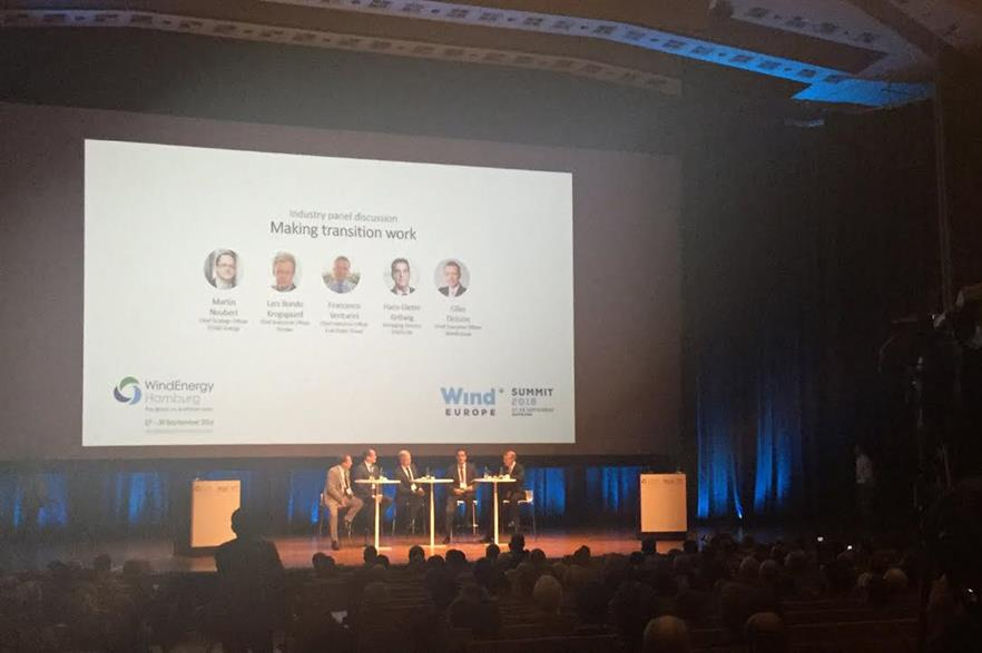 Delegates at Hamburg debating Europe's energy transition