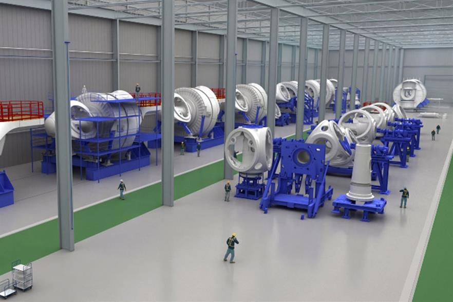 Planning ahead… Computer-generated image of Alstom turbine plant at St Nazaire