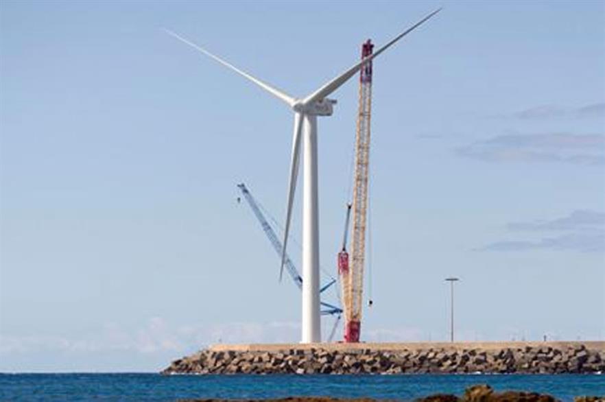 Gamesa's 5MW turbine in testing in Gran Canaria