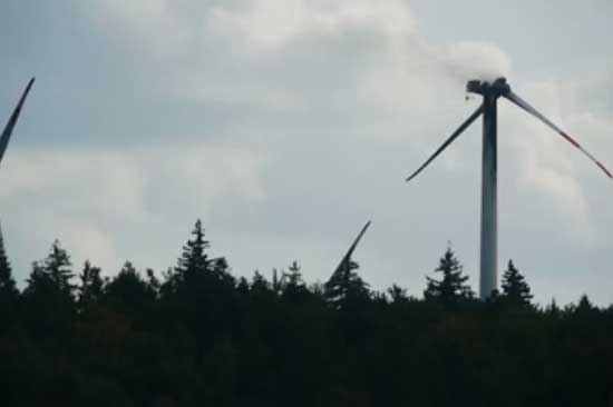 The Fuhrlander turbine fire was the result of a technical fault