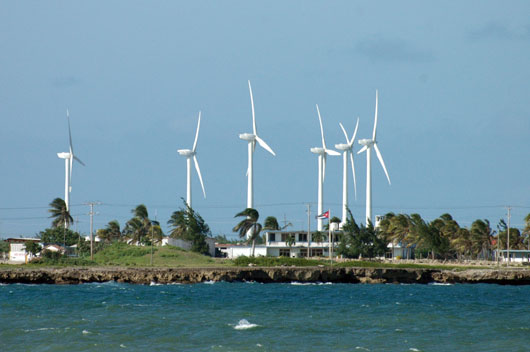 The Gibara wind project uses Goldwind turbines