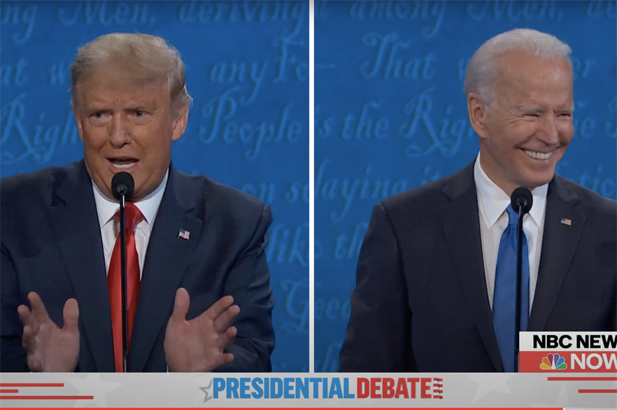 Divided opinions in the NBC News Presidential Debate.