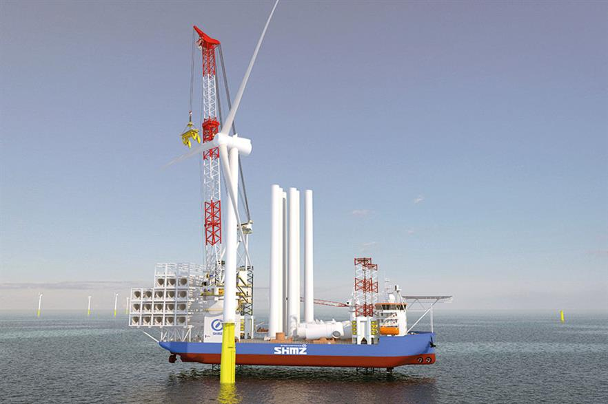 GustoMSC's crane design aims at easing installation of very large-scale offshore turbines