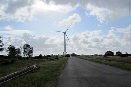 Alstom's 6MW Haliade turbine at Le Carnet, near the port of St-Nazaire
