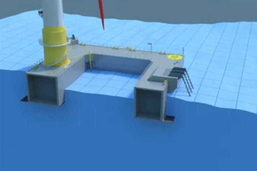 A cross-section of Ideol's design for the floating platform