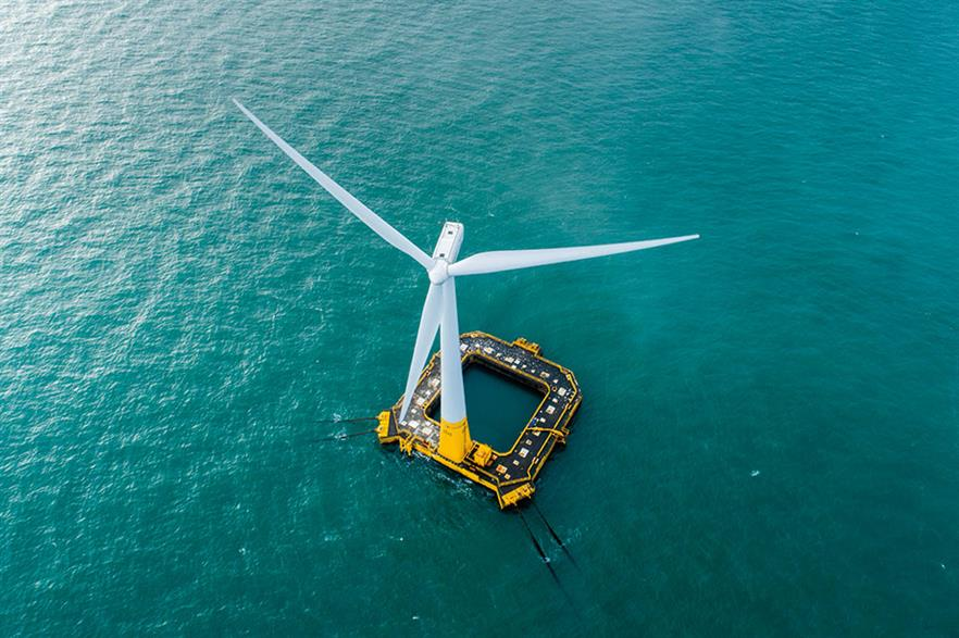 Ideol's 2MW Floatgen test turbine is still the only operating offshore capacity in French waters (pic: Ideol/Valery Joncheray)