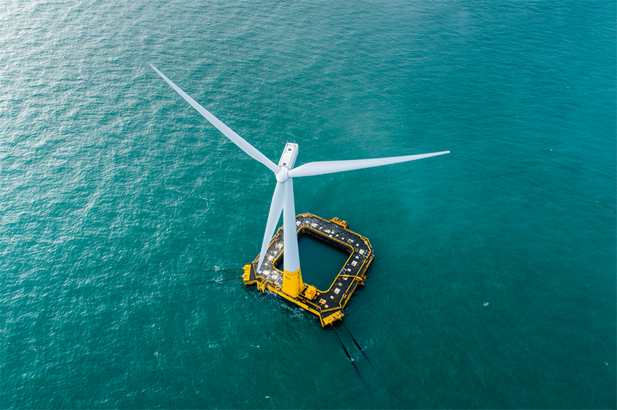 France went straight into an auction model and none of the offshore projects it has awarded since 2012 has been built yet, leaving the country with a single 2MW floating test turbine installed (pic: Ideol/Valery Joncheray)