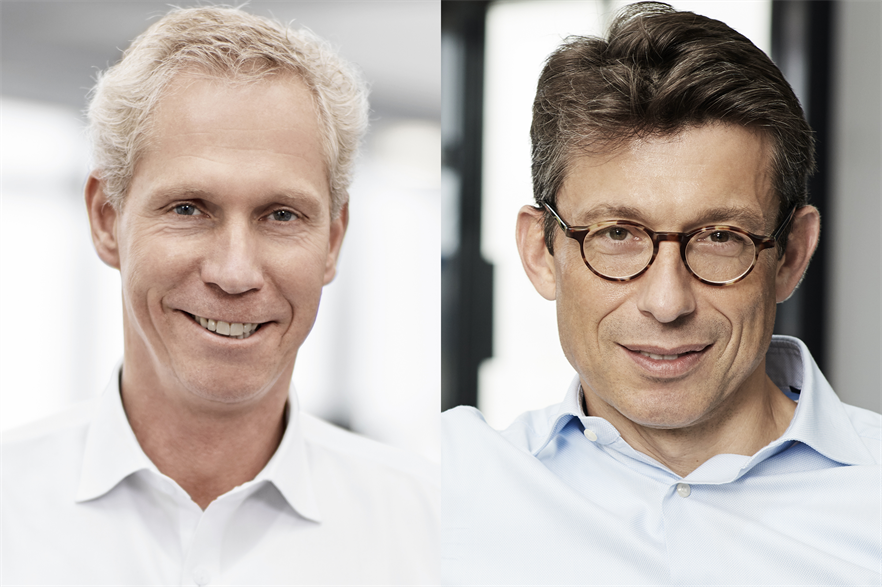 Marc de Jong (left) will be replaced as LM Wind Power CEO by Duncan Berry in April 2018