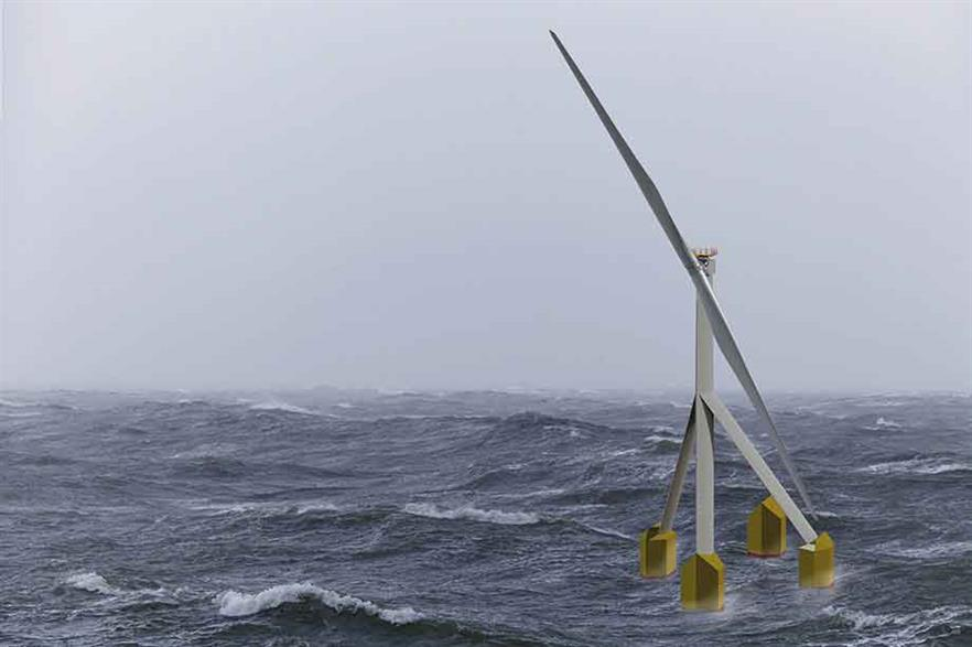SelfAligner… Aerodynamic mast and struts aid downwind rotor operation