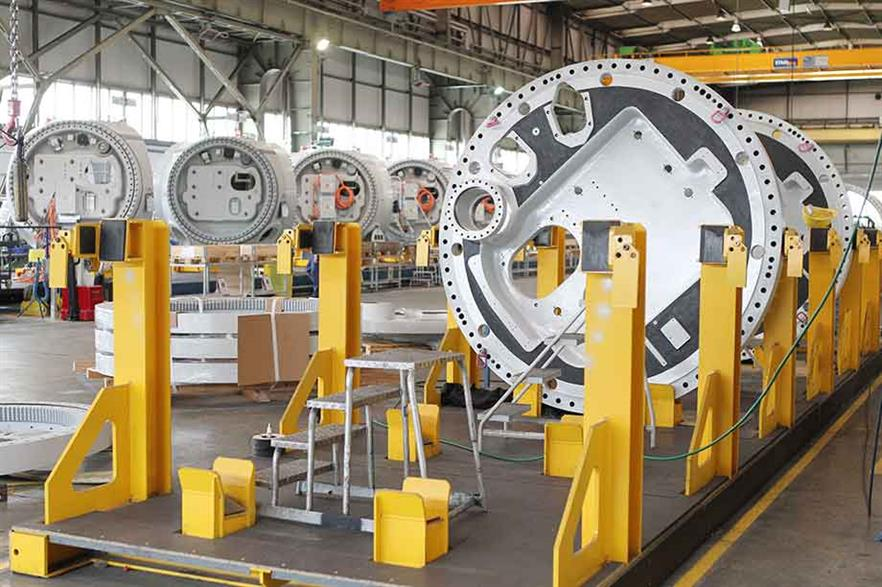 Nordex is cutting jobs at its nacelle production plant in Rostock