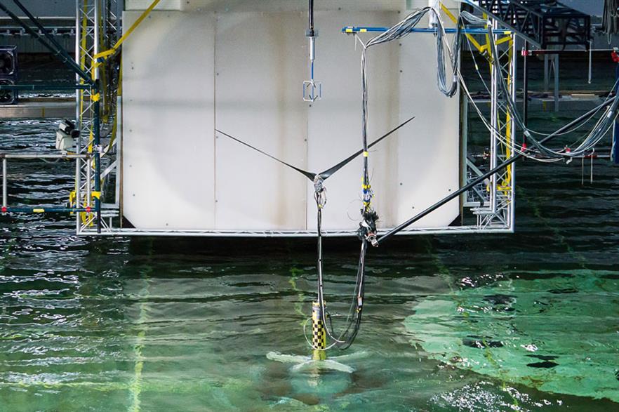 The Pelastar floating platform will use the Alstom turbine
