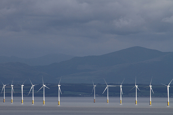 E.on's 180MW Robin Rigg project is installed off the south-west coast of Scotland, UK