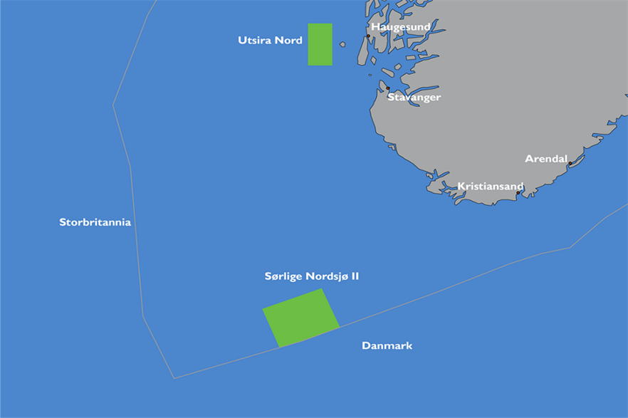 The Utsira Nord and Sørlige Nordsjø II sites have been mapped out for offshore wind development (Pic: NVE)