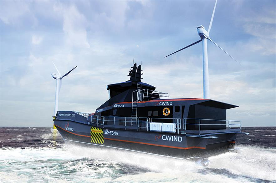CWind's surface-effect vessel will be used for crew transfers at Ørsted's Borssele I and II wind farms