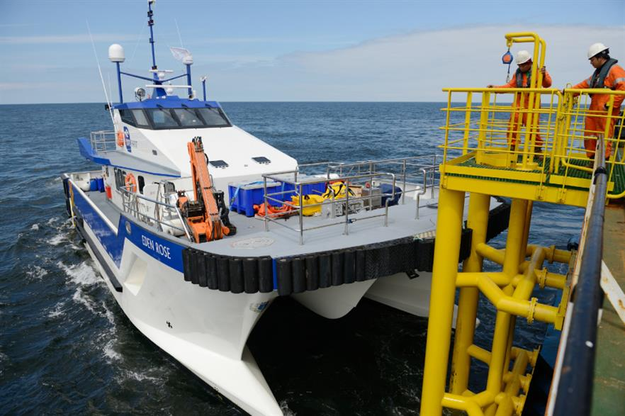 The Eden Rose is one of a new type of vessel specifically designed for offshore wind
