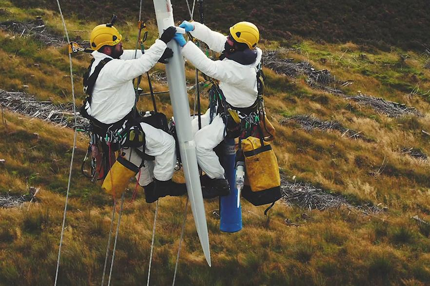 Skilled… Technicians installing the retrofit kit in the field