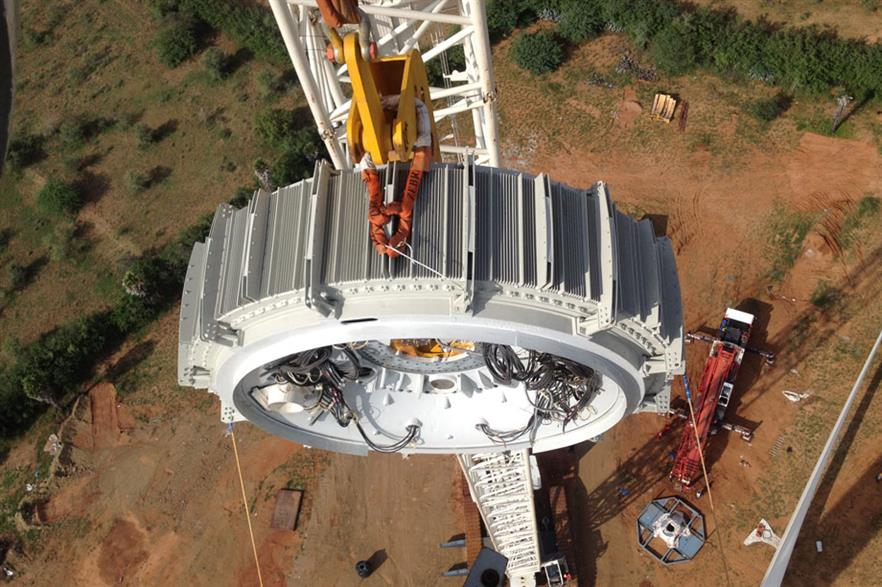 In-house designed… Wind-direct's generator segments are easily replaced