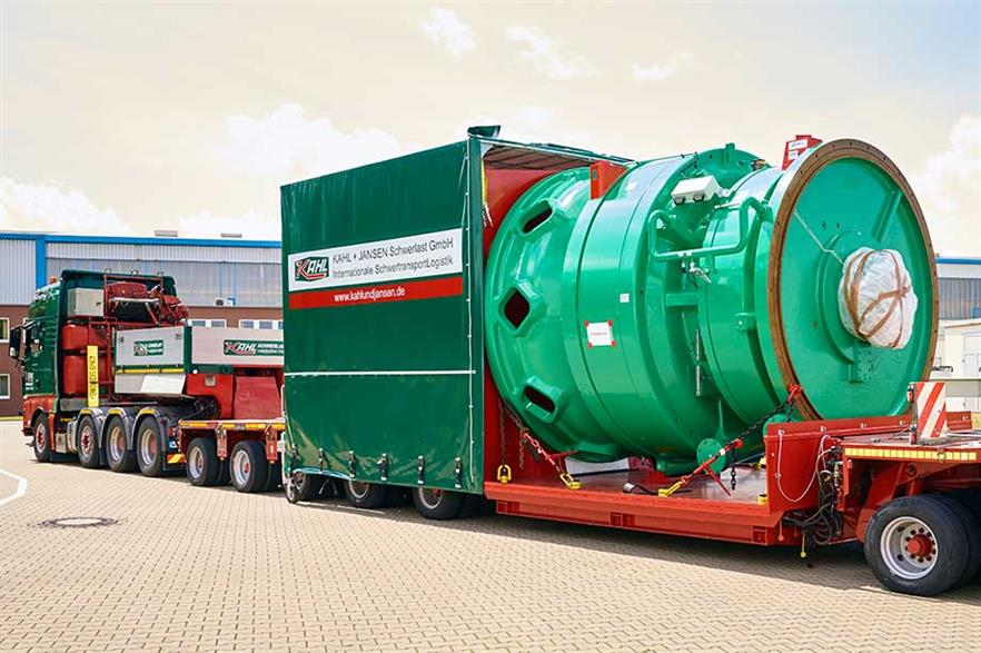 Colossus on roads… Winergy's new gearbox is nearly four metres long