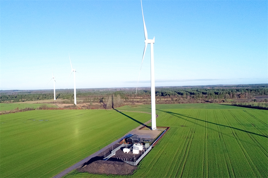 The two-year Brande hydrogen project featuring a 3MW turbine was launched in January (pic: SGRE)
