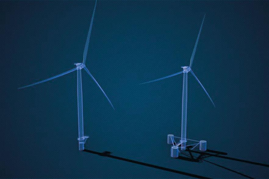 NREL's 15MW digital turbine comes with a monopile-type fixed-bottom support structure. A floating solution is in development