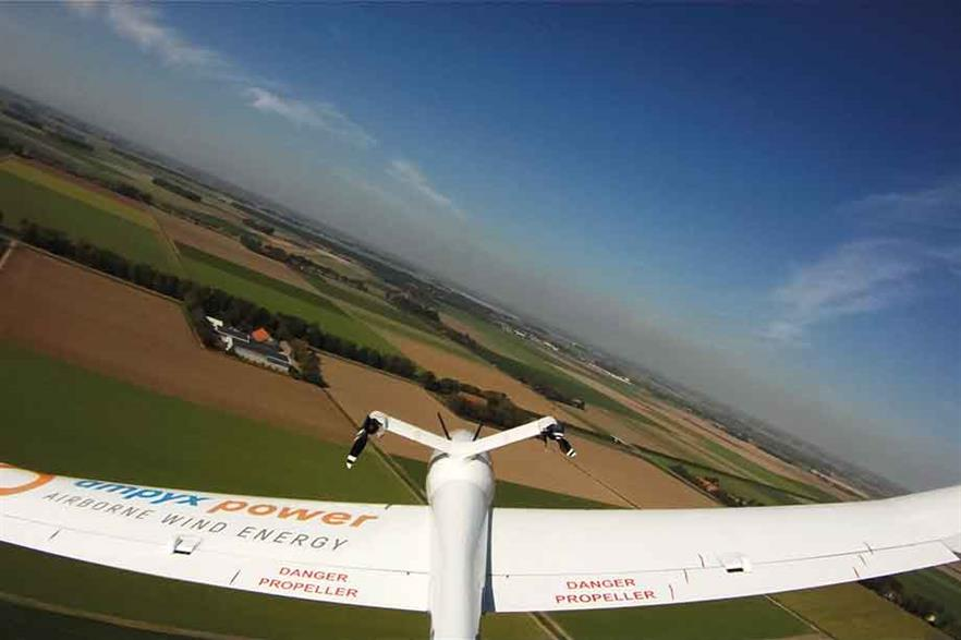 Tethered flight…Tailcam view of AP2 prototype testing in the Netherlands