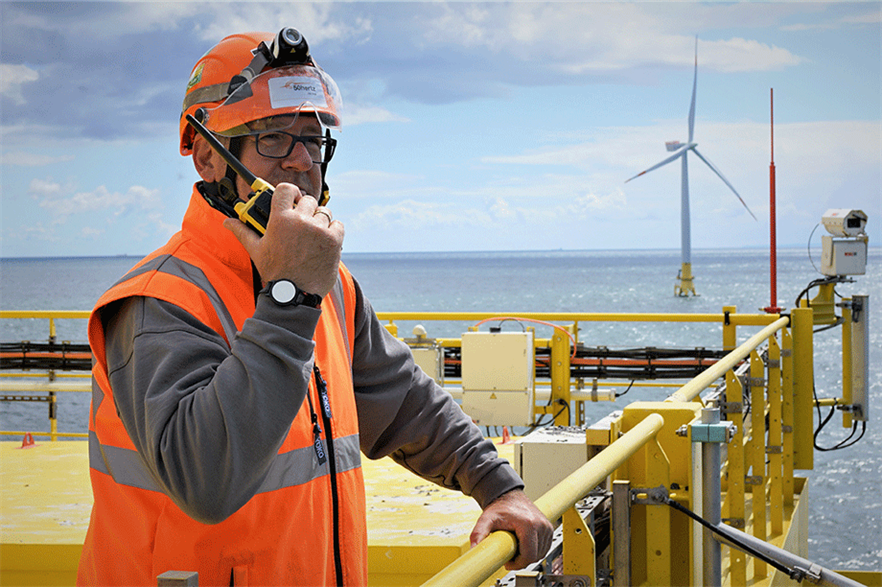 A 400MW subsea cable links the offshore substation of Denmark's 605MW Kriegers Flak offshore wind farm with the EnBW Baltic 1 and 2 sites (pic: 50 Hertz)