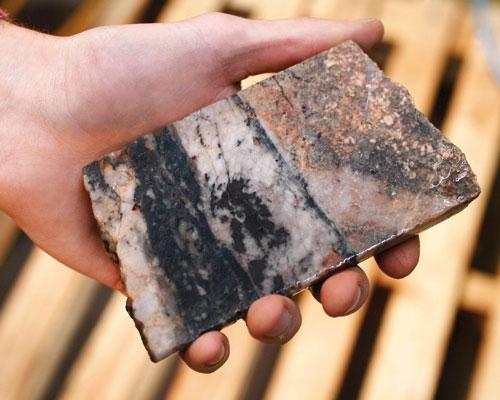 Hemerdon sample with Tungsten-bearing ore (credit: Wolf Minerals)