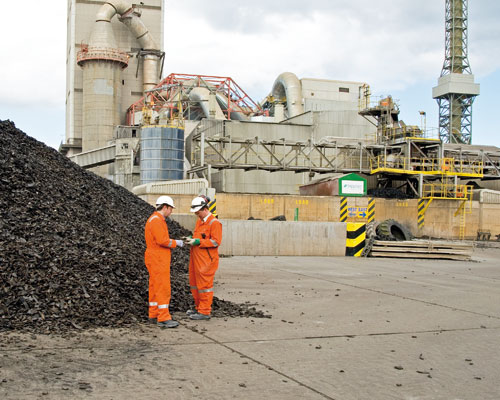Lafarge used 137,000 tonnes of waste-derived fuels in its cement-making kilns last year (credit: Lafarge)