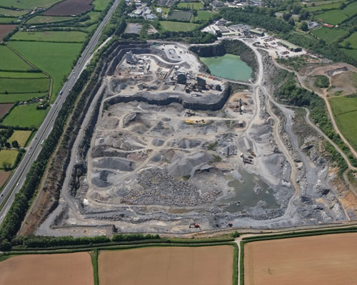 Glendinning handles up 600 tonnes of limestone per hour at Linhay Hill quarry in Ashburton (credit: Glendinning)