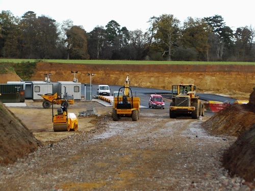 Weighbridge area under construction