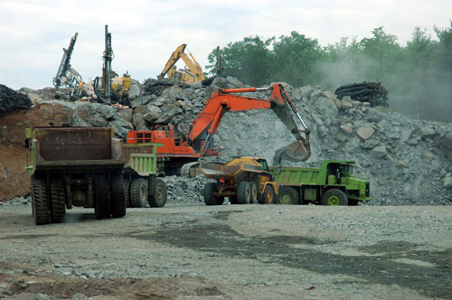 Aggregates: problems with declining reserves of aggregates have been talked about for 40 years