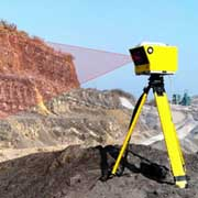 LiDAR scanner: can analyse whole quarry face