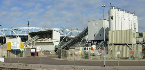 Olympics site: 380,000m3 concrete produced (Image credit: Hanson)
