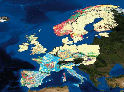 OneGeology-Europe: live geological map data (Image credit: reproduced with the permission of The OneGeology-Europe participants)