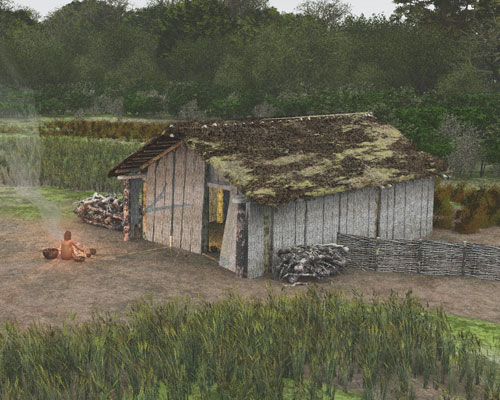 Neolithic houses found on Cemex site. Credit: CEMEX