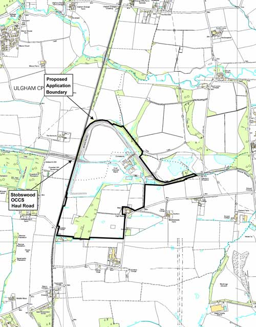 Morpeth: coal and fireclay extraction approved (Image credit: Northumberland County Council based on Ordnance Survey Mapping Crown Copyright AM66/10)