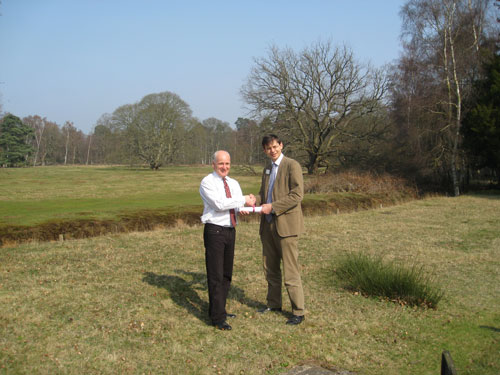 Lafarge's Tim Deal national mineral resources manager and Martin Harper the RSPB's director of conservation