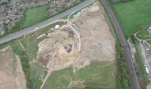 Bournewood Sand and Gravel site off A20 Swanley Bypass, Swanley. Credit: LB of Bromley